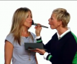 Ellen Helps Jennifer Aniston Primp
