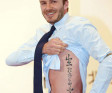 David Beckham Reveals New Tattoo
