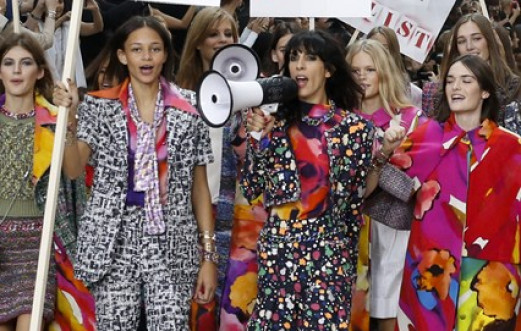 CHANEL MODELS STORM THE RUNWAY