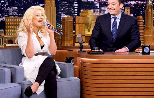CHRISTINA SINGS BRITNEY FOR JIMMY
