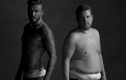 D&J BRIEFS: DAVID BECKHAM + JAMES CORDEN