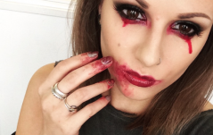 HOW TO: Zombie/Vampire Halloween Eye Look