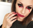 HOW TO: Zombie/Vampire Halloween Eye Look