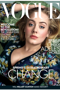 ADELE ON VOGUE MARCH COVER