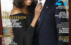 MICHELLE AND BARACK OBAMA ON OCTOBER COVER OF ESSESNCE