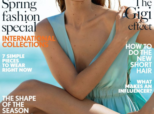 GIGI HADID ON THE COVER OF BRITISH VOGUE