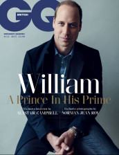 PRINCE WILLIAM ON COVER OF BRITISH GQ