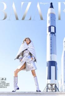 GIGI HADID'S SPACE COVER FOR HARPER'S BAZAAR