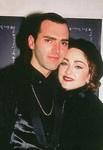 Chris with Madonna