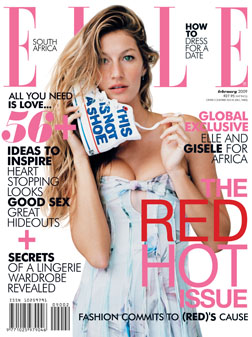 <b>Gisele for ELLE...</b>
