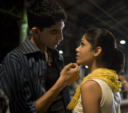 On screen with Slumdog Millionaire star Dev Patel