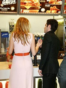 Blake Lively and Penn in McDonald's