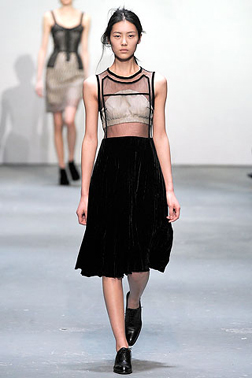 On the catwalk at Christopher Kane
