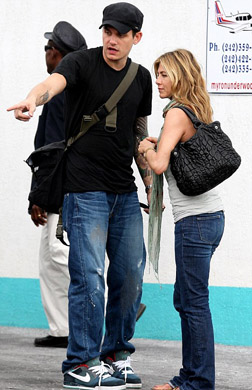 Jennifer Aniston and John in the Bahamas