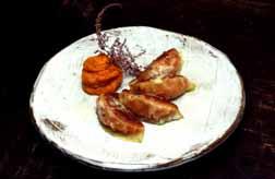 Kabotcha Pumpkin Gyoza with Truffle