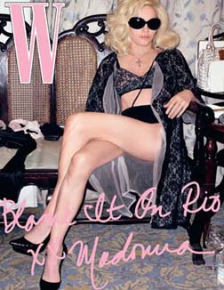 Madonna on the cover of W Magazine
