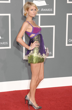Paris Hilton at the Grammy Awards