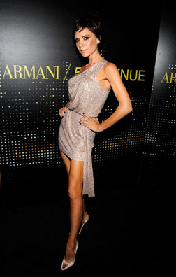 Victoria Beckham at the Armani opening