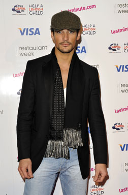 David Gandy spotted at the launch of lastminute.com's restaurant week