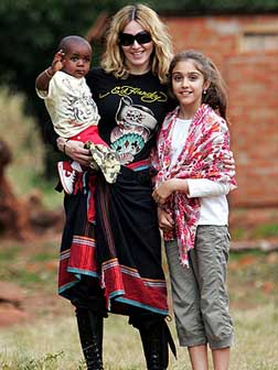 Madonna with her children