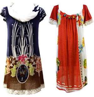 Spring/Summer at Darimeya dress on the left 58 and dress on the right 60