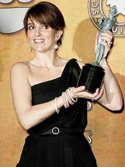 Tina with her SAG award