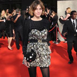 Alexa Chung at the BAFTA's