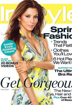 Eva Longoria Parker on the cover of In Style