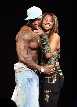 50 Cent and Ciara on stage