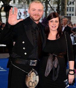 Simon Pegg at the Premiere