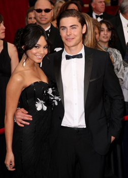 Zac with girlfriend Vanessa