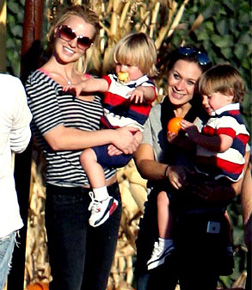 Britney Spears with her boys