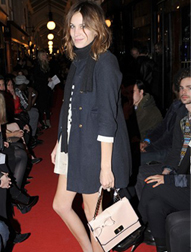 Alexa Chung with the Luella Bow Bag