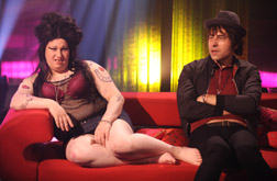 Matt Lucas as Amy Winehouse & David Walliams as Pete Doherty