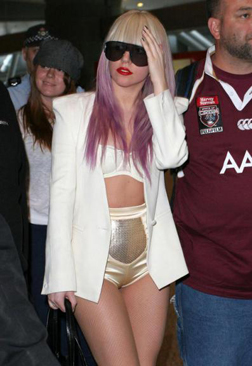 Lady Gaga at Sydney airport