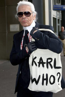Karl Lagerfeld spotted at Nice airport