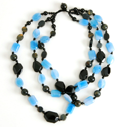 Lola Rose Black & Blue Beaded Necklace