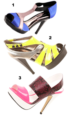 Neon Bright Shoes