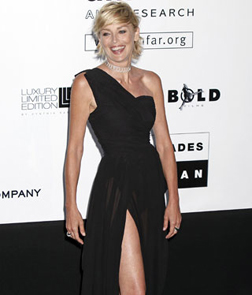 Host of the event Sharon Stone
