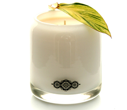 Akeewakee White Medallion candle