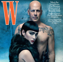 Bruce and Emma on the cover of W