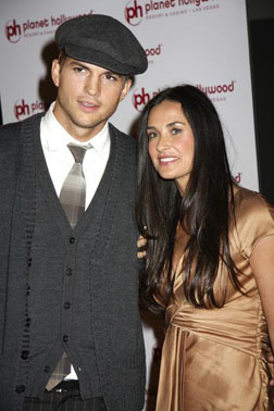 Demi with husband Ashton Kutcher