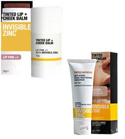 Invisible Zinc Sunscreen range