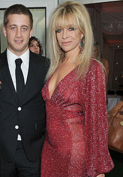 Jo Wood with her son