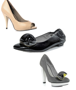 L-R Santo Spirito Peep Toes, Madison Pumps and Tribeca Courts