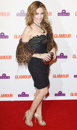 Kylie at the Glamour Awards