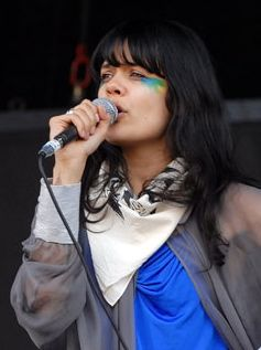Lily Allen wearing face paints