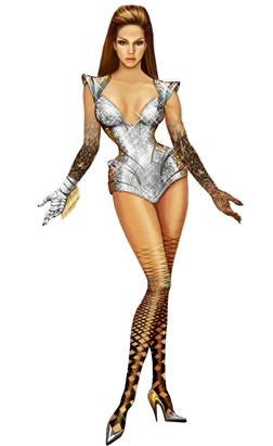 Thierry Mugler designs for Beyonce
