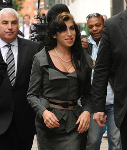Amy Winehouse makes her way to court