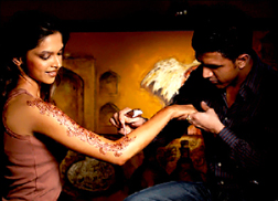 Ash Kumar applying henna to Deepika Padukone